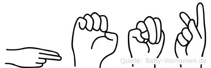 Henk im Fingeralphabet der Deutschen Gebärdensprache