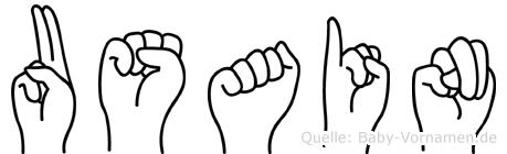 Usain im Fingeralphabet der Deutschen Gebärdensprache
