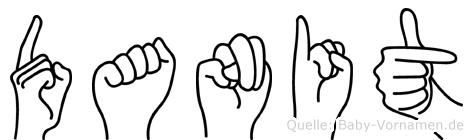 Danit im Fingeralphabet der Deutschen Gebärdensprache