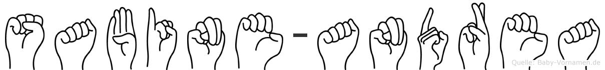 Sabine-Andrea im Fingeralphabet der Deutschen Gebärdensprache