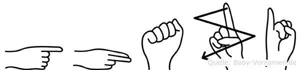Ghazi im Fingeralphabet der Deutschen Gebärdensprache