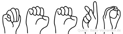 Meeko in Fingersprache für Gehörlose