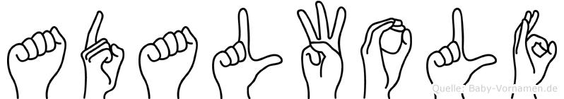 Adalwolf in Fingersprache für Gehörlose