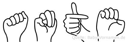 Ante in Fingersprache für Gehörlose