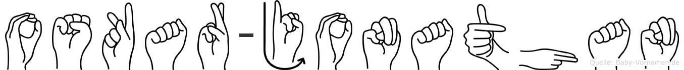 Oskar-Jonathan im Fingeralphabet der Deutschen Gebärdensprache