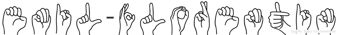Emil-Florentin im Fingeralphabet der Deutschen Gebärdensprache