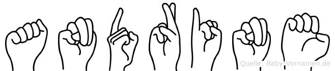Andrine im Fingeralphabet der Deutschen Gebärdensprache