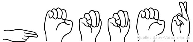 Henner im Fingeralphabet der Deutschen Gebärdensprache