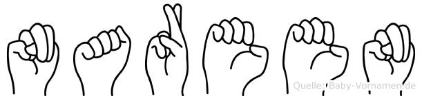 Nareen im Fingeralphabet der Deutschen Gebärdensprache
