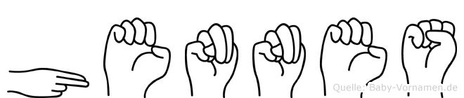 Hennes in Fingersprache für Gehörlose