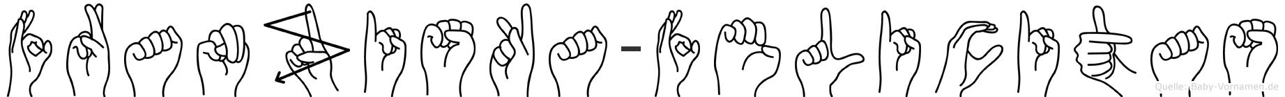 Franziska-Felicitas im Fingeralphabet der Deutschen Gebärdensprache