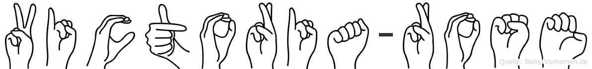 Victoria-Rose im Fingeralphabet der Deutschen Gebärdensprache