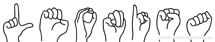 Leonisa in Fingersprache für Gehörlose