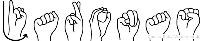 Jaronas im Fingeralphabet der Deutschen Gebärdensprache