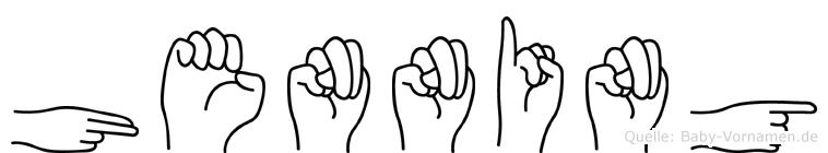 Henning im Fingeralphabet der Deutschen Gebärdensprache