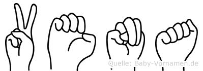 Vena im Fingeralphabet der Deutschen Gebärdensprache