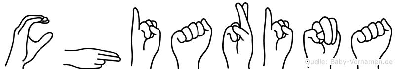 Chiarina im Fingeralphabet der Deutschen Gebärdensprache