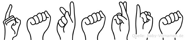 Dakaria im Fingeralphabet der Deutschen Gebärdensprache