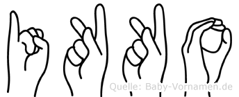 Ikko im Fingeralphabet der Deutschen Gebärdensprache