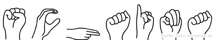 Schaima im Fingeralphabet der Deutschen Gebärdensprache