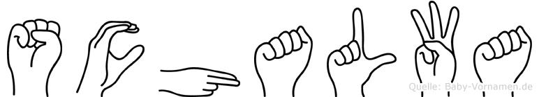 Schalwa in Fingersprache für Gehörlose