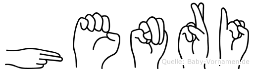 Henri im Fingeralphabet der Deutschen Gebärdensprache