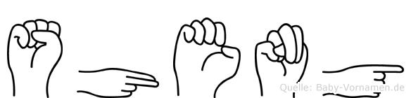 Sheng im Fingeralphabet der Deutschen Gebärdensprache