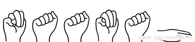 Naamah im Fingeralphabet der Deutschen Gebärdensprache