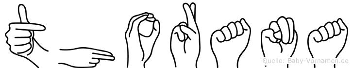 Thorana im Fingeralphabet der Deutschen Gebärdensprache
