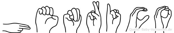 Henrico im Fingeralphabet der Deutschen Gebärdensprache