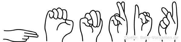 Henrik in Fingersprache für Gehörlose
