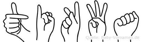 Tikwa im Fingeralphabet der Deutschen Gebärdensprache