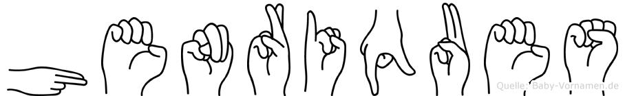 Henriques im Fingeralphabet der Deutschen Gebärdensprache