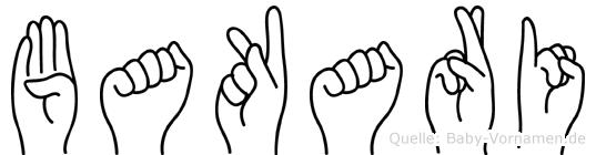 Bakari in Fingersprache für Gehörlose