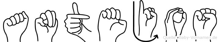 Antejos in Fingersprache für Gehörlose