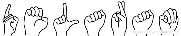 Delaram im Fingeralphabet der Deutschen Gebärdensprache