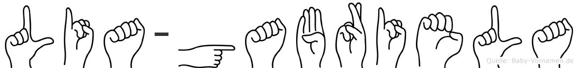 Lia-Gabriela im Fingeralphabet der Deutschen Gebärdensprache