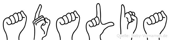 Adalia in Fingersprache für Gehörlose