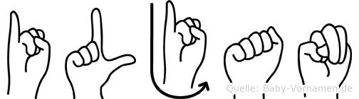 Iljan in Fingersprache für Gehörlose