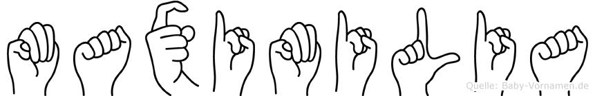 Maximilia in Fingersprache für Gehörlose