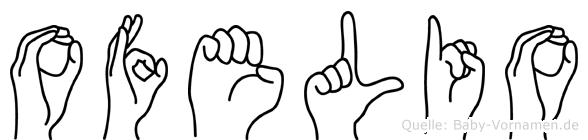 Ofelio im Fingeralphabet der Deutschen Gebärdensprache