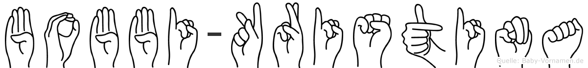 Bobbi-Kristina im Fingeralphabet der Deutschen Gebärdensprache