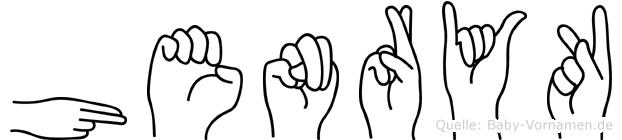 Henryk in Fingersprache für Gehörlose