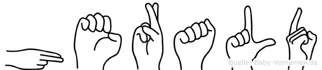 Herald in Fingersprache für Gehörlose