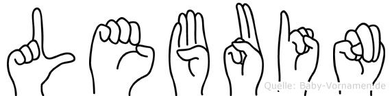 Lebuin im Fingeralphabet der Deutschen Gebärdensprache
