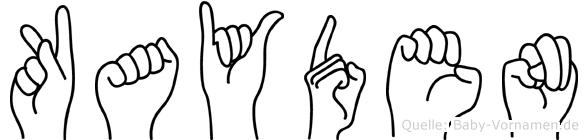 Kayden im Fingeralphabet der Deutschen Gebärdensprache