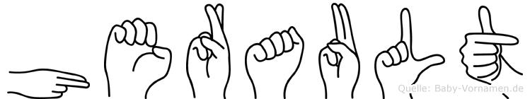 Herault im Fingeralphabet der Deutschen Gebärdensprache
