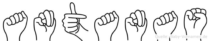 Antanas in Fingersprache für Gehörlose