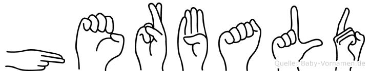 Herbald im Fingeralphabet der Deutschen Gebärdensprache