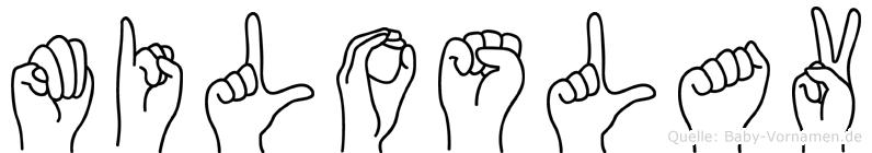 Miloslav in Fingersprache für Gehörlose